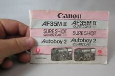 1980s Canon Af35M Ii-Sure Shot-Autoboy 2 35mm Camera Owners Instruction Manual