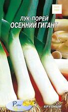 las semillas de la puerro Gigante otoño - Allium porrum - verduras 300