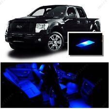 For Ford F250 F350 1999-2010 Blue LED Interior Kit + Blue License Light LED