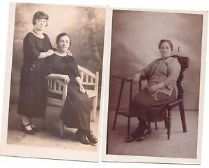 Antique Mother and Daughter 1926- 1931 Photo Postcard unposted Social & Fashion