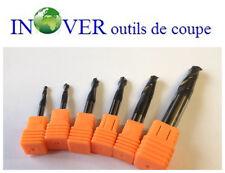 Lot  de  6 Outils  Carbure Multi-V Angle 90° Perçage, Chanfreinage, Contournage