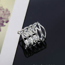 Nice Girl Open Silver Ring Mesh Lady Silver Plated Women Ring Classic Jewelry