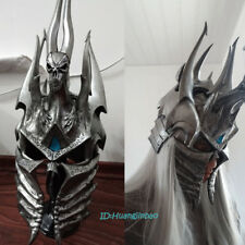 WOW Lich King Helm of Domination Model Polystone 1:1 Wearable On Stand 60cm/24''