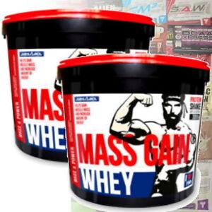 WHEY MASS GAIN 6kg Gainer Protein WPC Glutamin BCAA Top Masseaufbau, Bonus Probe