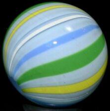 "JODY FINE HANDMADE GLASS MARBLE/1.087""-SCOUT BEACHBALL-FADED BLUE JEANS,LEMON+"