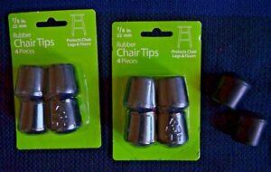 "10 7/8"" Black Rubber  Chair Tips Waxman 4440515W"
