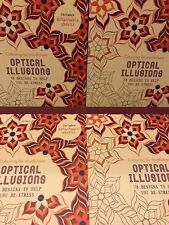 Optical Illusions Colouring Book Gift Anxiety Stress Symptom Relief Reliever