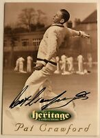 1995 FUTERA HERITAGE CRICKET COLLECTION CARD N0 30/60 SIGNED PAT CRAWFORD