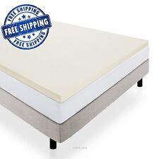 LUCID 2 Inch Memory Foam Comfort Mattress Topper Queen Size w/ 3 Year Warranty
