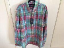 Linen Plaids & Checks Long Sleeve Button-Front Casual Shirts for Men