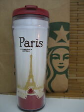 STARBUCKS tumbler PARIS Eiffel Tower PLASTIC TRAVEL MUG, 16 oz