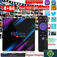 H96 Max Android 10.0 Smart TV Box 64 Bit Quad Core 4K Ultra HD WiFi Media Player