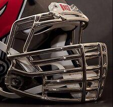 JUSTIN TUCK style Riddell Revolution SPEED Football Helmet Facemask - CHROME