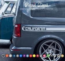 VW Volkswagen T6, T5, T4 Side Stripe Stickers Decals Graphic Camper Van CAL long