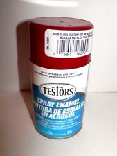 Testors Ruby Red Metal Flake Enamel Spray Paint Can  3 oz. 1629