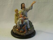 1989 Homco Home Interiors Masterpiece Porcelain Come Unto Me Jesus & Children Fi