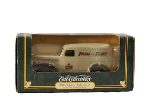 RARE! 1946 CHEVY SUBURBAN DIE CAST METAL VEHICLE BY ERTL COLLECTIBLES FOR AGE 8+