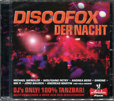 DISCOFOX DER NACHT - DJ'S ONLY ! - CD COMPILATION NEW AND SEALED