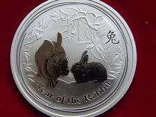 Australia. 2011 - 1oz Silver ($1). Lunar Series - Year of the Rabbit.. BU