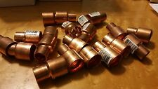"LOT OF TWENTY (20) - McMaster COPPER COUPLING 101R CPLG 3/4""x1/2"""