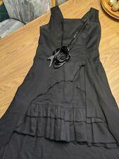 Black Lolita Dress Hi Lo Vampire Gothic Elegant Large Read Description