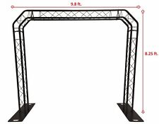 BLACK TRUSS ARCH KIT 8.25FT Height Mobile Portable DJ Lighting System Metal Arch