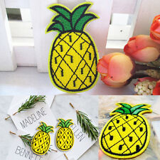 Pineapple Fruit Skateboard Embroidered Sew Iron On Patch Badge Fabric Applique