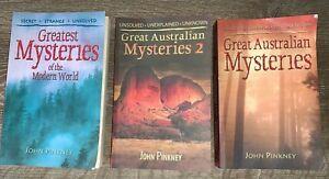 3 books - Great Australian Mysteries 1 & 2 & Modern World by John Pinkney