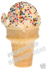 "Ice Cream Cone Sprinkle Decal 10"" Concession Food Truck Cart Soft Serve"