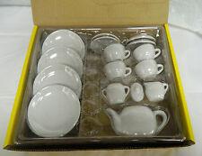 Child Tea Set White Ceramic - Set of 16 pieces