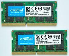 64GB KIT RAM Crucial DDR4 SODIMM 2666MHz PC4-21300 CL19 1.2V Notebook/Laptop/Mac