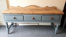 More details for gorgeous large country house victorian pine dresser sideboard 3 drawer!