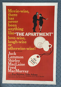 The Apartment Original LINEN BACKED US One Sheet Film Poster (1960) MacLaine