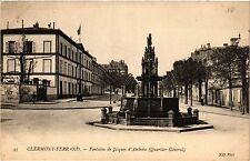 CPA CLERMONT-FERRAND Fontaine de Jacques d'Amboise Quartier General (460100)