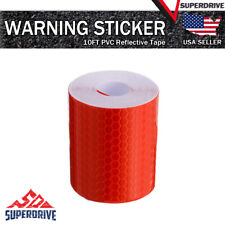 10ft Car Truck Reflective Safety Warning Conspicuity Tape Film Sticker Decal Red
