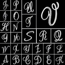Alphabet Letter A-Z Crystal Rhinestone Initial Fashion Brooch Pin Gift  Jewelry 2215eb31b6f6