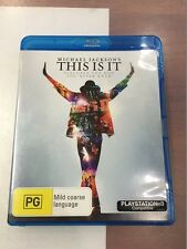 Michael Jackson's This is it Bluray
