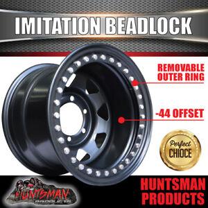 15X10 6/139.7 PCD -44 Offset Steel Imitation Beadlock Rim Stainless Bolt 8 spoke