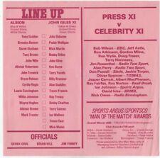 West Brom WBA v John Giles XI 1978 John Osborne Testimonial team sheet