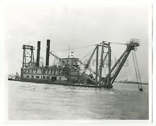 Vintage Machinery - Dredges - Vintage 8x10 Photograph