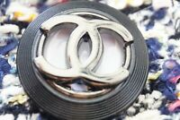 Rare Stamped Chanel button 1 pieces   metal cc logo1  inch 26 mm  XL