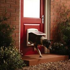 Large Dog Flap Extra XL 2 Way Door Gate Entrance Lockable Pet Wall Exit
