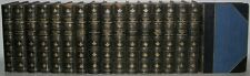 LEATHER Antique Library Set; ROBERT LOUIS STEVENSON'S WORKS! Treasure Island...