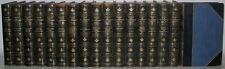 LEATHER Antique Library Set; ROBERT LOUIS STEVENSON'S WORKS! Treasure Island...