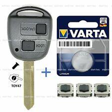 Auto Klappschlüssel Schlüssel Gehäuse Für Toyota Yaris Corolla Echo Blank TOY41