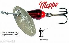 Mepps XD Xtra Deep  SILVER / RED spinner Size - 0 weight 2,5g. ( obrotówka )