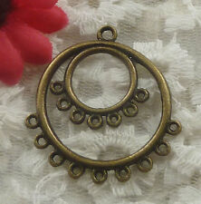 free ship 105 pieces bronze plated earring connector 37x34mm #2236