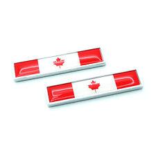 2Pcs Car Metal Canada Maple Leaf Candian Flag Logo Emblem Body Fenders Stickers