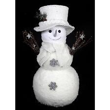 46cm Fluffy Muñeco de Nieve Navidad Invierno Decoración estacional Figura Regalo Decoración De Casa