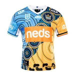 Gold Coast Titans 2021 Indigenous Jersey Medium - 5XL, Ladies & Kids NRL Dynasty
